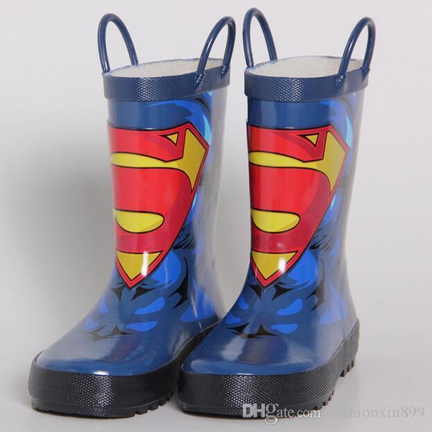 991cd2464 Compre Zapatos Para Niños Botas Para Niños Zapatos Para Niños Botas De  Lluvia Héroes De Dibujos Animados Botas Para La Lluvia De Moda Para Niños  Zapatos De ...