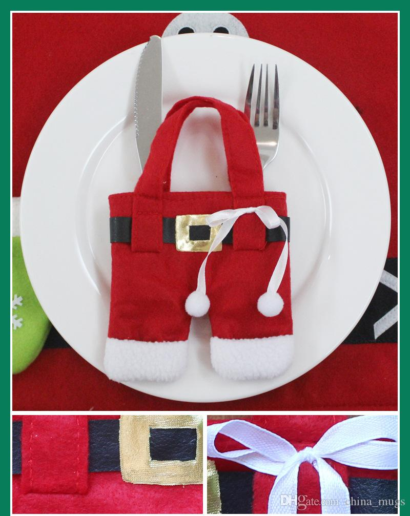 Noel Baba Sofra Takım Noel Süslemeleri mutlu Noel Yemeği Parti Süslemeleri yılbaşı süsleri Parti Malzemeleri ücretsiz kargo