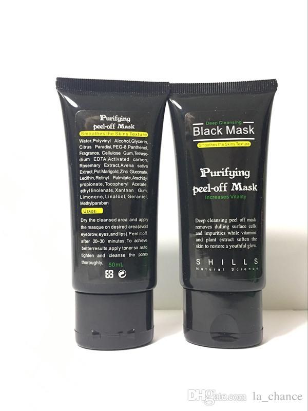 Dropshipping Black Suction Mask Anti-Aging 50ml SHILLS Deep Cleansing purifying peel off Black face mask Remove blackhead Peel Masks