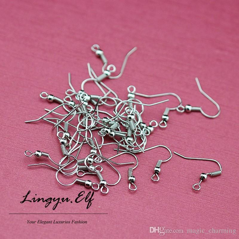 18K Gold Earring Earwires & Clips - Findings 2mm flat back post earring findings Earring Hooks/ DIY Jewelry Findings