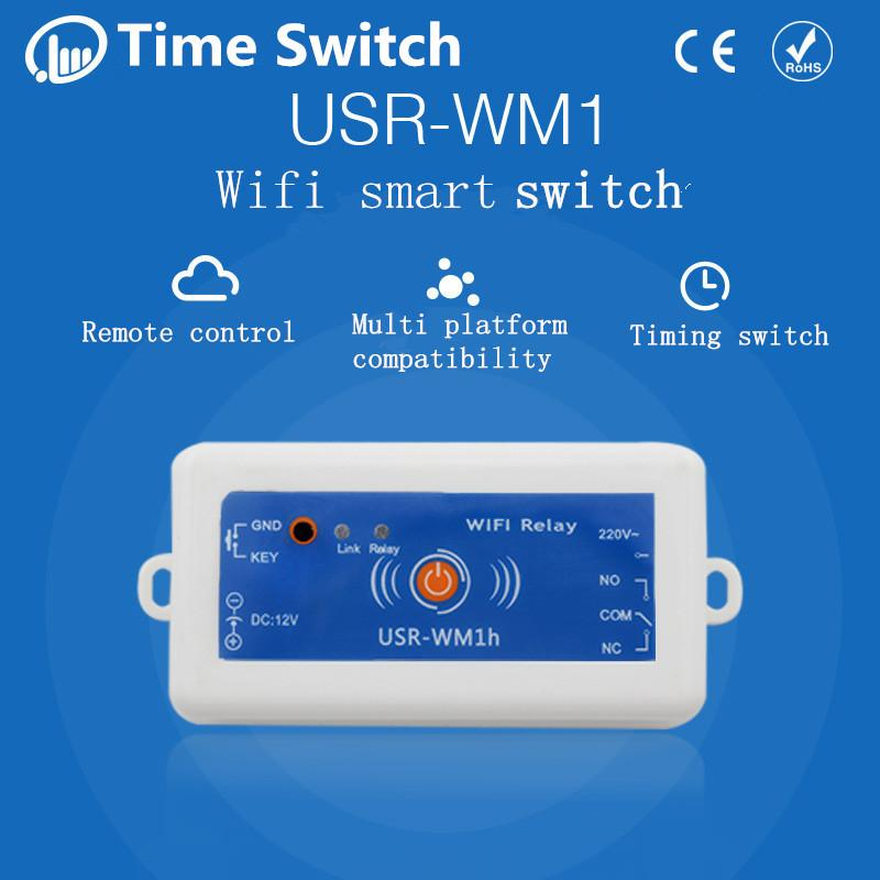 Wholesale-Smart Home USR-WM1h Wireless Remote Control Light Switch Domotica  Wifi Relay Switch 220V Phone Control Support Android and IOS