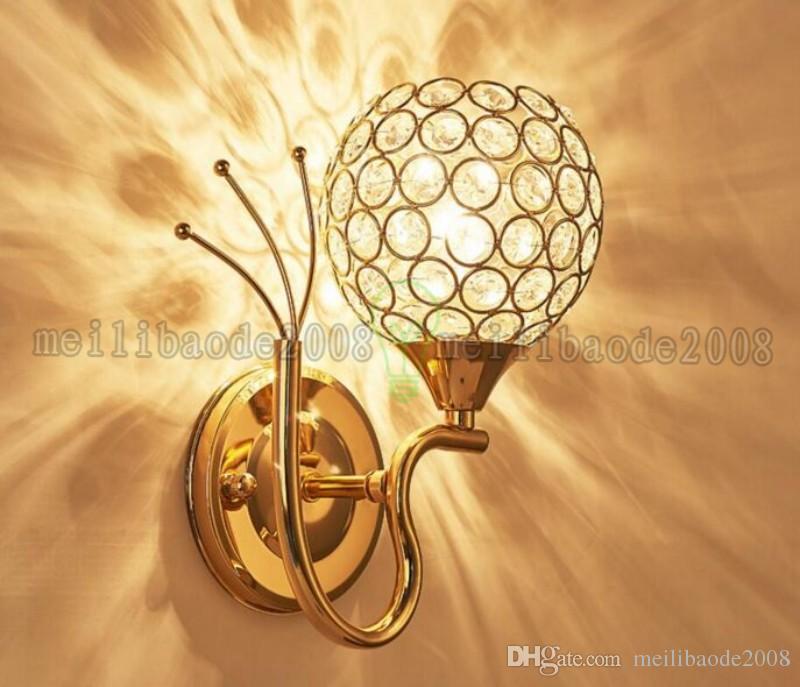 2017 NUEVA Moderna Lámpara de Pared de Noche Acero Inoxidable Cristal Luces de Pared Apliques Luz de Noche para Camino Escalera Dormitorio Lámpara MYY