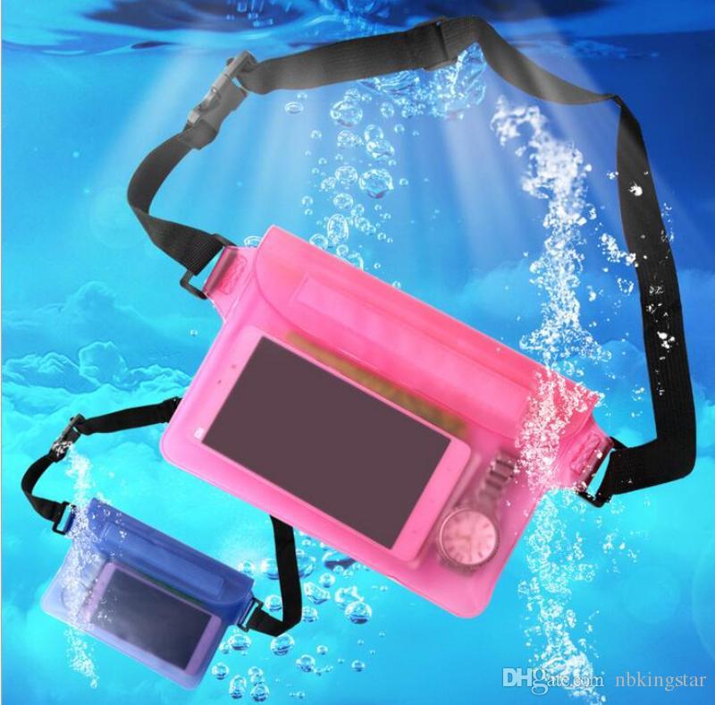 방수 투명 파우치 전화 액세서리 액세서리 화면 보호기 방수 인감 가방 스포츠 부드러운 플라스틱 포장 가방