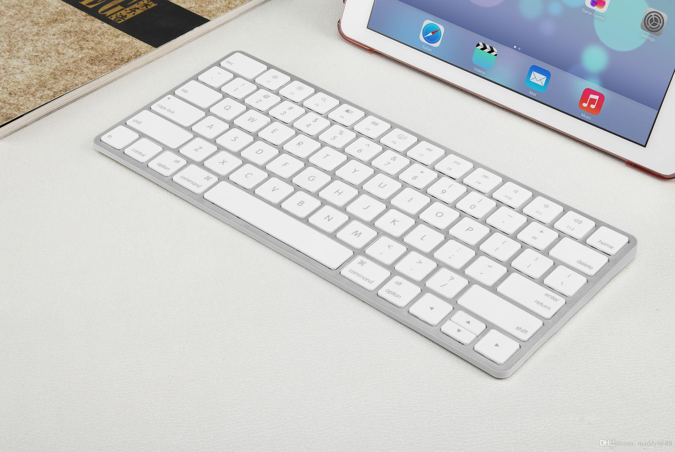 BK200 İşlevli Üç Sistem Kullanımı Evrensel Multimedya Bilgisayar Dokunmatik Taşınabilir Beyaz Ultrathin 260 MAH Kablosuz Bluetooth Klavyeler