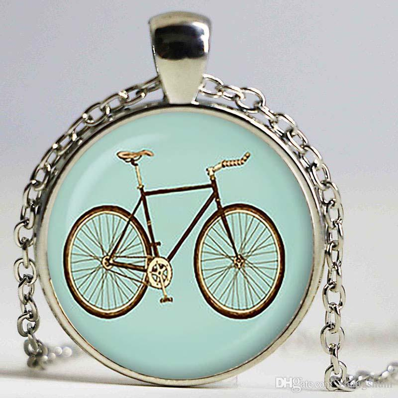 Wholesale vintage blue bicycle pendant bicycle necklace bicycle wholesale vintage blue bicycle pendant bicycle necklace bicycle jewelry birthday gift christmas giftsliver plated aquamarine pendant necklace heart aloadofball Gallery