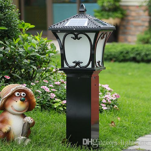 LED Solar Lights Outdoor Waterproof Garden Lawn Light Solar Led Garden Lamp  Post Lamps Warm White Cold White Color Light Sensor Functions