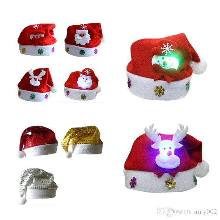 dhl christmas hat cosplay hats thick ultra soft plush santa claus hat cute adults christmas cap christmas supplies unique christmas gifts xmas gifts from