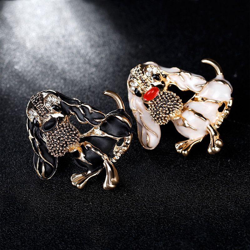 Fashion Animaux Enamel Broches Pinques Mignon strass Huile Huile Broches Pinches pour sacs de vêtements Broches pour épingles de revers de mariage