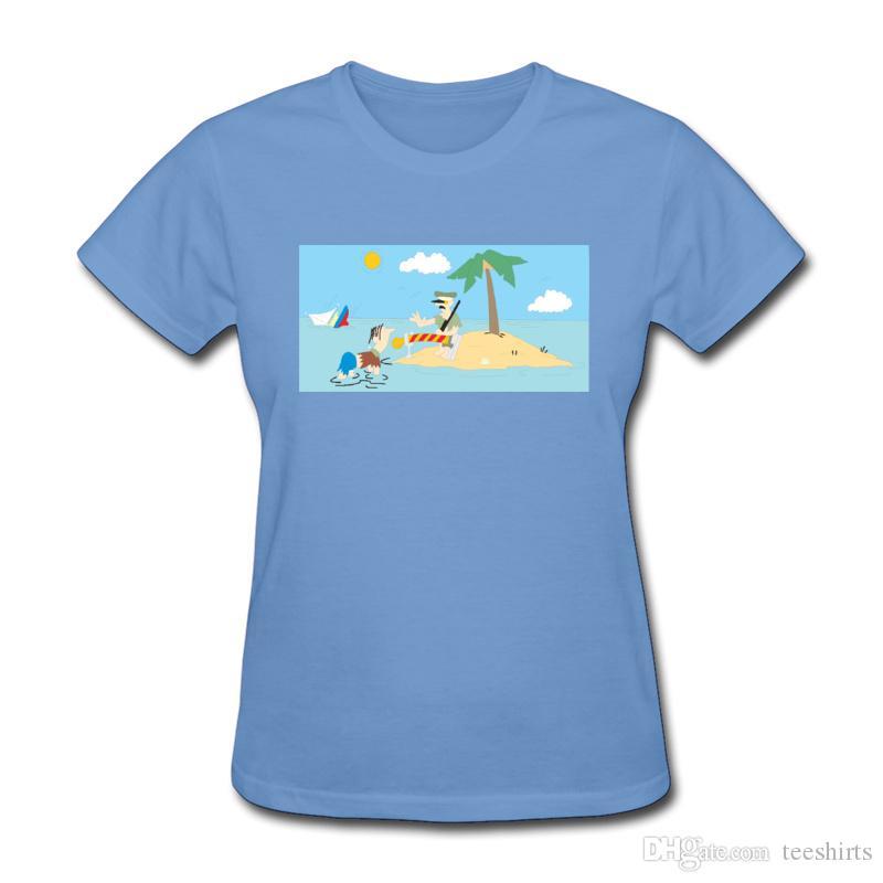 Funky T-Shirts für Frauen mit kurzen Ärmeln und Rundhalsausschnitt aus reiner Baumwolle für Mädchen und Frauen T-Shirts