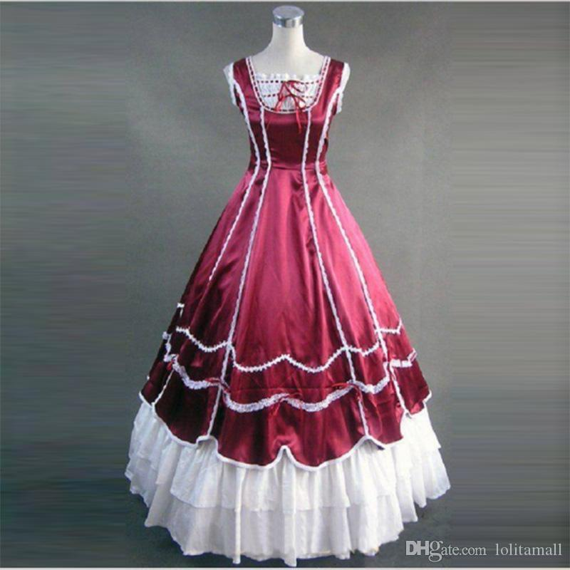 Red And White Southern Belle Civil War Victorian Dress Gown Lolita Princess  Theater Costume Online with  131.43 Piece on Lolitamall s Store  acae48032680