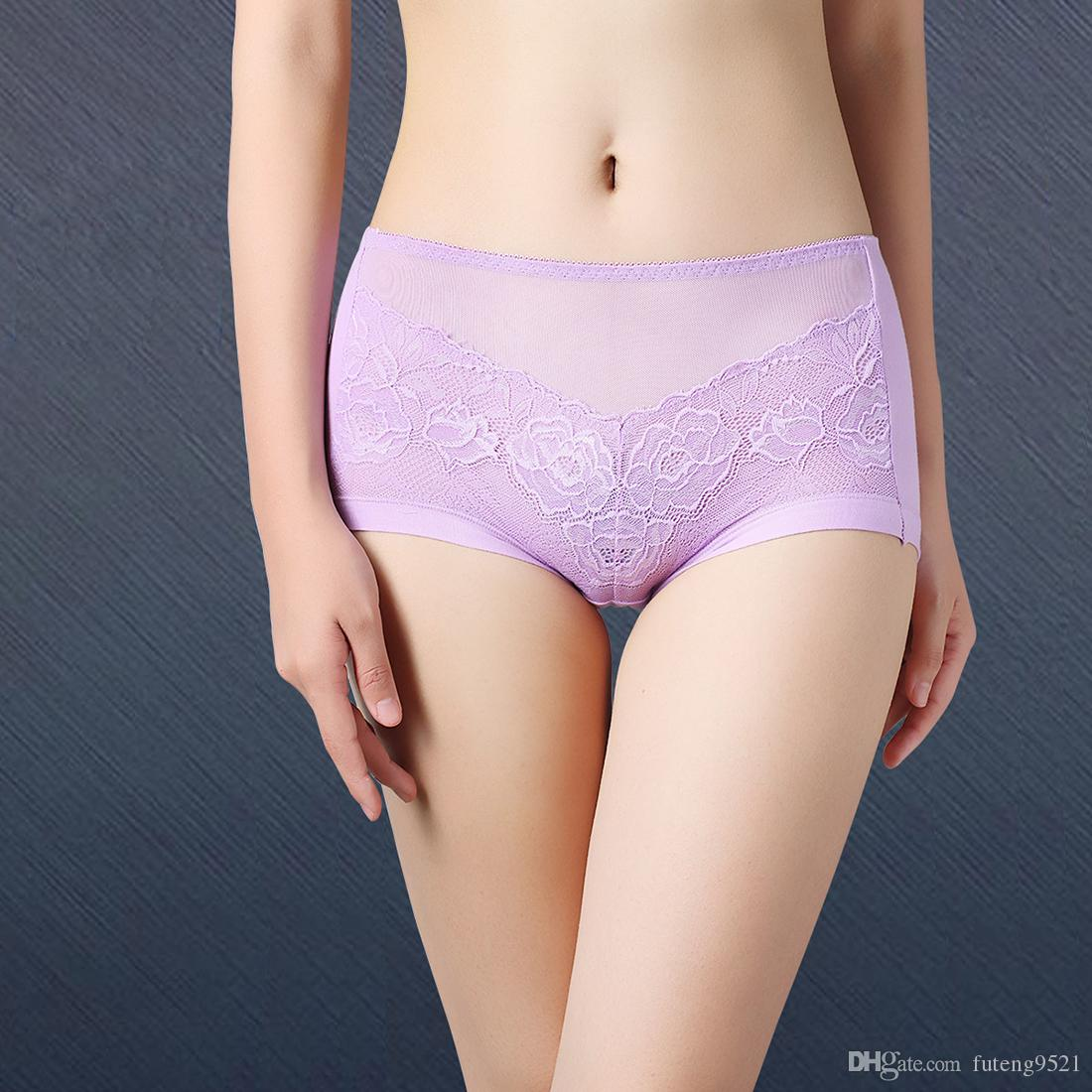 4d51a5086df 2019 Large Size Pure Color Panties High Waist Cotton Briefs Sexy Underwear  Women Lingerie Seamless Hiphuggers For Female From Futeng9521