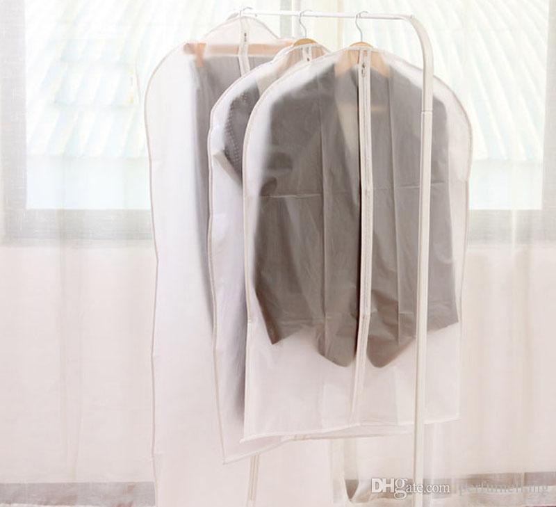 Imperméable Transparent Dot Style Vêtements Dust Cover Vêtements Costume Vêtement Pendaison De Poche Sac De Rangement Organisateur ZA3580