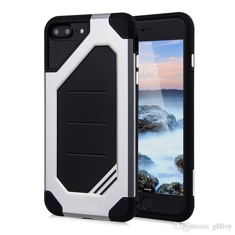 Für iphone 7 7 plus Samsung S8 S8 Plus S7 S7 rand Fall 2 In 1 Fall Rüstung TPU PC Fall Kostenloser Versand