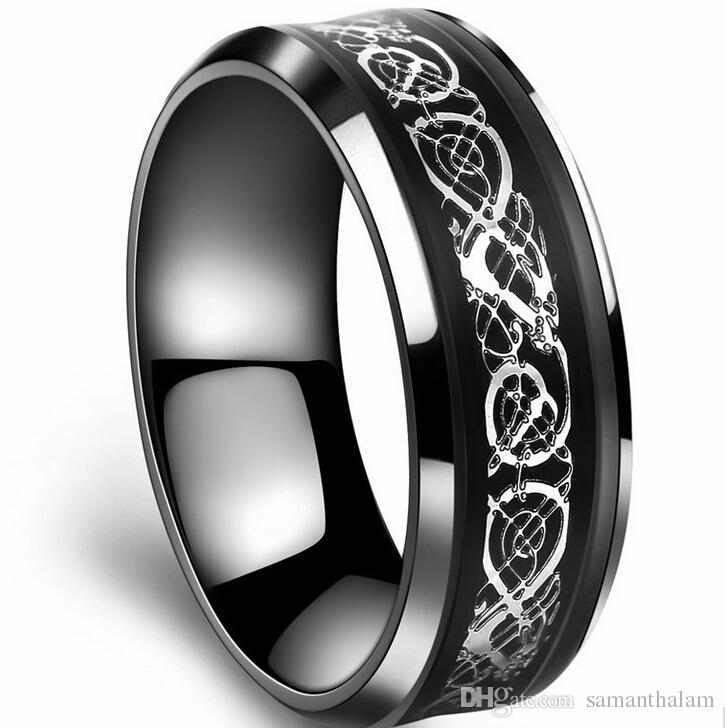 titanium bands cz with diagnal black engagement ring stacked mens edges band wedding fully groove s men grooves blue