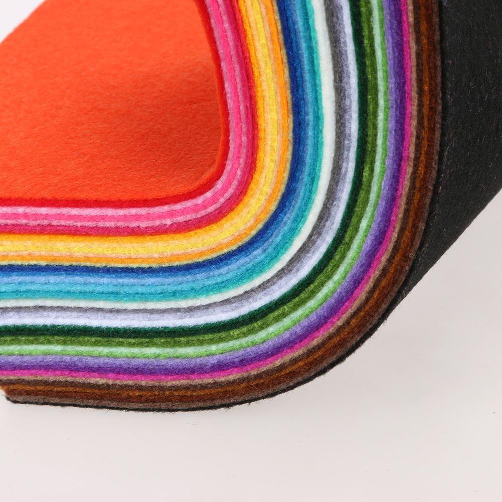 40 renkler / lot 15 CM X 15 CM Keçe Kumaş Polyester dokunmamış Keçe 1 MM Kalın Kumaş DIY Keçe El Sanatları Bez Feutrine Fieltro Feltro