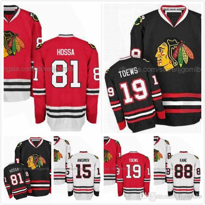 Cheap Marian Hossa Jersey 81 Patrick Kane 88 Jonathan Toews 19 Artem  Anisimov 15 Mens Ice Hockey Jerseys Chicago Blackhawks Full Stitched S-3XL 21f167e15