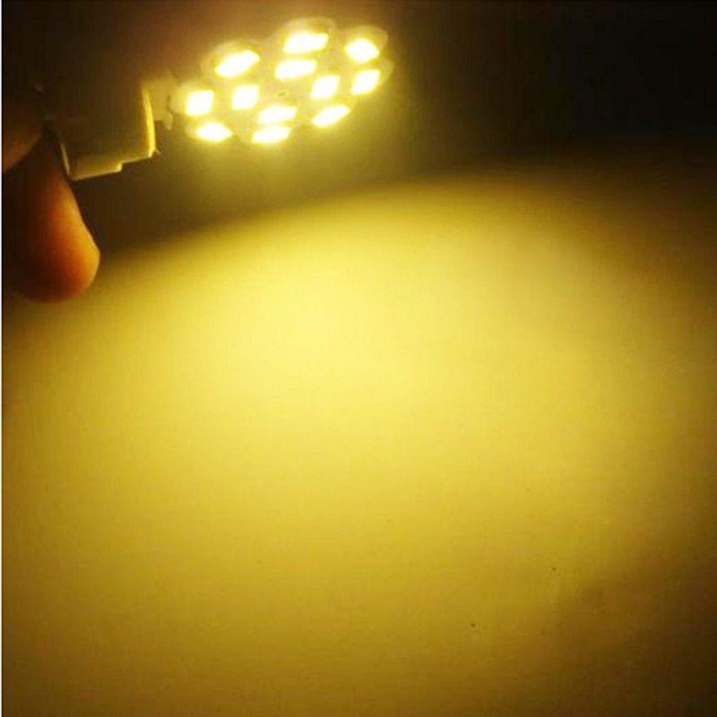 Bote de maíz marino RV barco 5630 G4 12SMD LED chandilier de cristal Lámpara de luz blanca AC12V DC12V