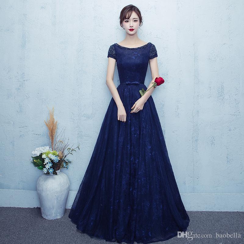 Vestidos de noche largos azul