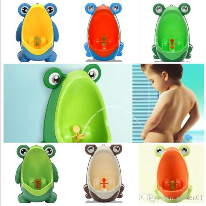 Kids PP Frog Dolphins Potty Children Stand Vertical Urinal Wall ...