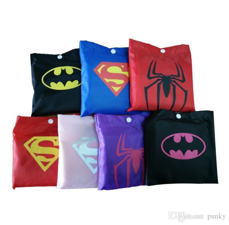 superman batman spiderman superhero çocuklar su geçirmez Yağmurluk Yağmurluk Rainwear