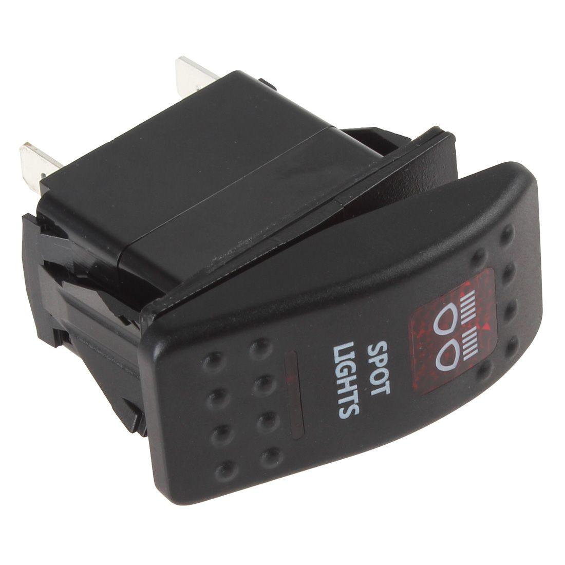A estrenar 12V 20A Luz indicadora LED roja impermeable Carling Style Spot Light Interruptor basculante CEC_916