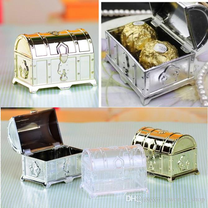 Retro Treasure Chest Favor Box Fashion Candy Boxes Gold Silver Clear Gift Boxes For Birthday Wedding Party Guest Wedding Party Decorations Wedding Party ... & Retro Treasure Chest Favor Box Fashion Candy Boxes Gold Silver Clear ...