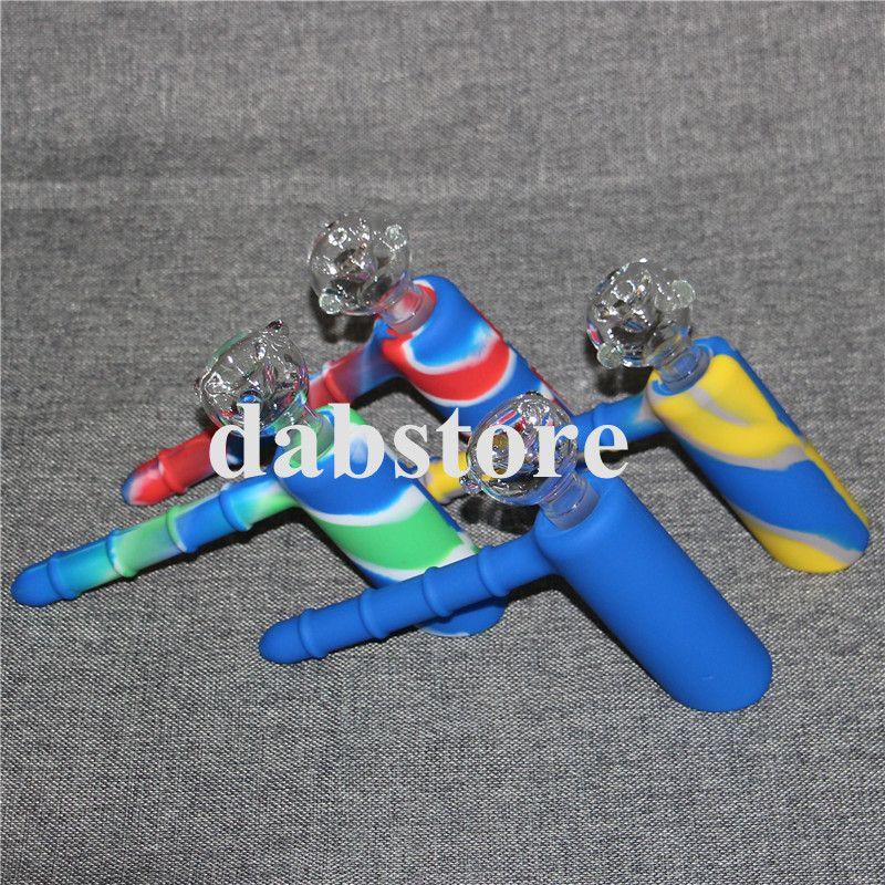 Atacado novo design hummer forma silicone tubulação de água portátil narguilé fumar silicone mão tubulação de silício dab equipamento de vidro bong