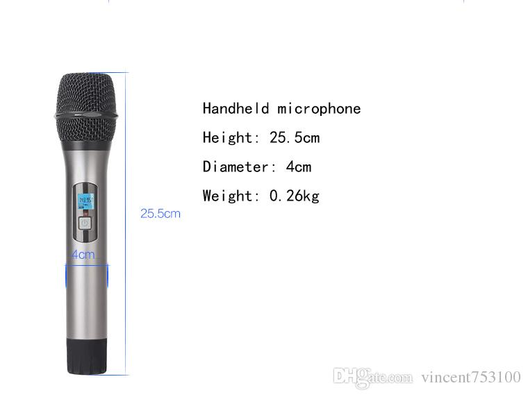 Nuevo KFW U4600 Micrófono inalámbrico Un receptor 4 Micrófono de mano Presentación de capacitación UHF Micrófonos KTV