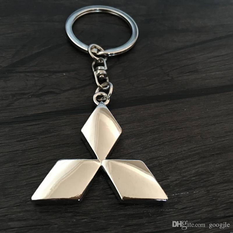 도매 3D 금속 자동차 로고 키 링 키 체인 열쇠 고리 mitsubishi asx 외계인 랜서 Chaveiro Llavero 키 홀더 자동차 스타일링