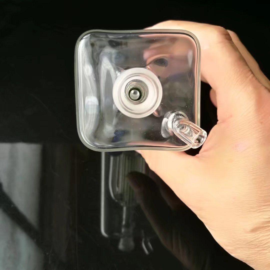 Elemento de filtro de quatro garras Hookah vidro arma acessórios, canos de água bongos de vidro hooakahs duas funções para plataformas de petróleo vidro bongos