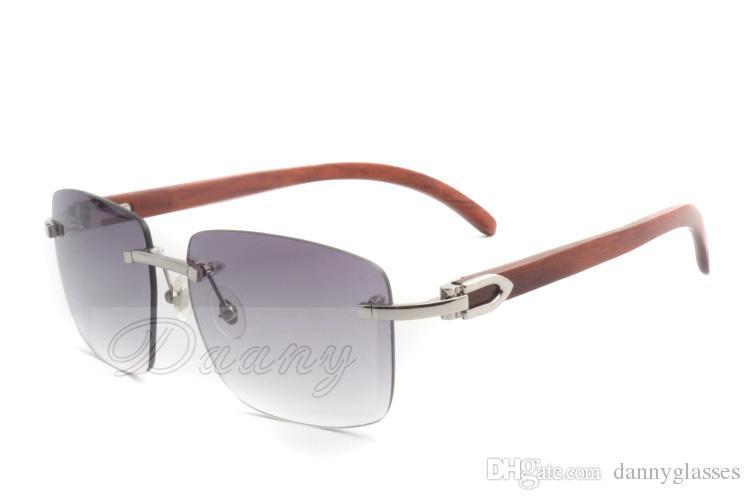 2019 النظارات الشمسية مربع جودة عالية جديدة، والنظارات 3524012-A الاسلوب المناسب، الطبيعية خشبية النظارات الشمسية مرآة الساق، والتوصيل المجاني