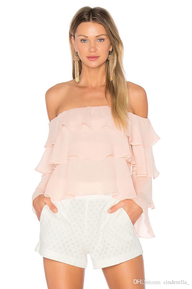 2017 Fashion Long Sleeve Off Shoulder Tops Blouses Feminina Sexy ...