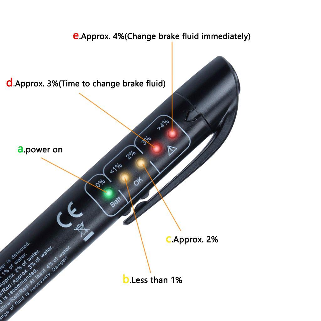 1X LED 브레이크 유체 테스터 진단 테스트 도구 자동 브레이크 DOT3 DOT4 DOT5 자동차 상점 도구