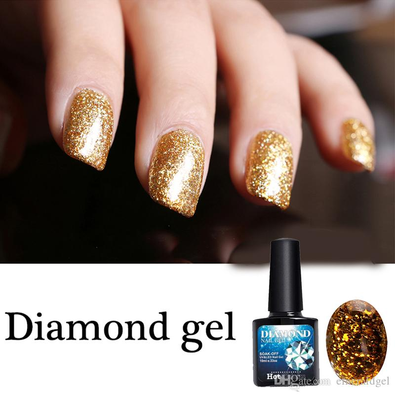 Gel Nail Polish Supper Diamond Shining Glitter Sequins Starry ...