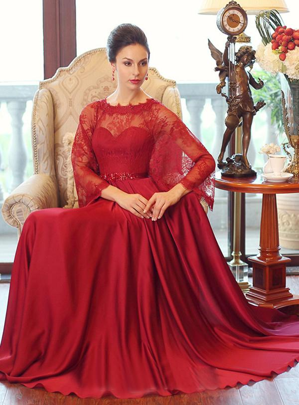 Stunning Kaftan Arabic Evening Gowns Dresses With Lace Wrap Floor ...