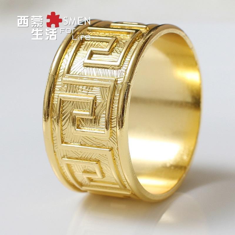 Gold Bling Napkin Rings
