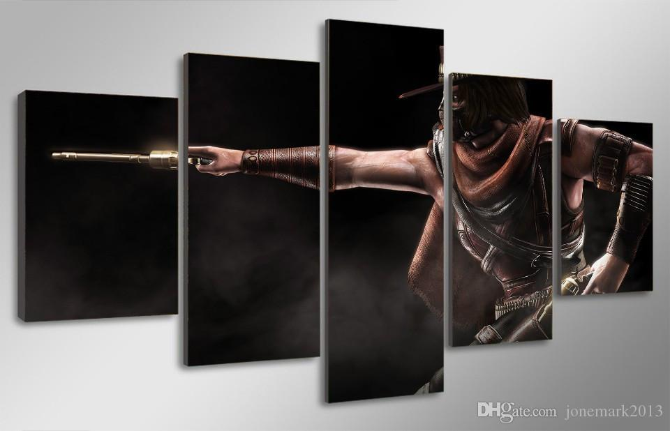 Framed HD Printed Mortal Kombat Game Picture Wall Art Canvas Print Room Decor Poster Canvas Modern Oil Painting