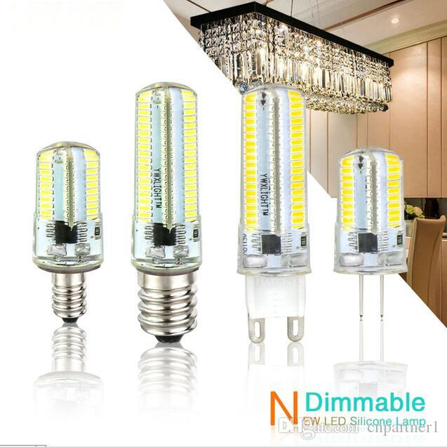 Led Light G9 G4 Led Bulb E11 E12 14 E17 G8 Dimmable Lamps 110V 220V Spotlight Bulbs 3014 SMD 64 152 Leds light Sillcone Body for chandeliers