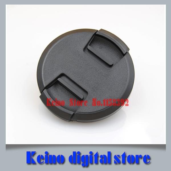 Wholesale-New Hot49mm 52mm 55mm 58mm 62mm 67mm 72mm 77mm Center Pinch Snap-on Front Lens Cap For Can nik&n Camera Lens Filters With String