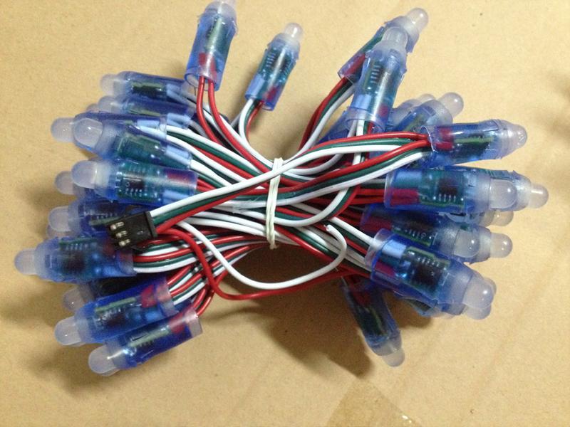 1903 2811 pixel Led licht 12mm RGB LED punkt pixel string DC5V farbenreiches string licht wasserdicht IP66