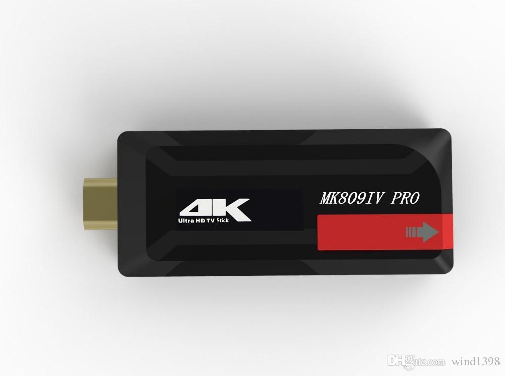 Vendita calda Mini Android 6.0 TV BOX MK809IV PRO Amlogic S905X Quad Core 1G / 8G Mini PC Full HDMI 1080p TV dongle