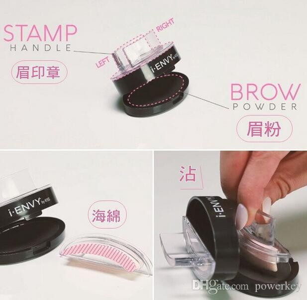 Newest Brand Brow Stamp I ENVY BY KISS Eyebrow Powder Seal Makeup Eyes Brow Stamp Palette Delicated Eye Shadow Eyebrow with Brush Tool