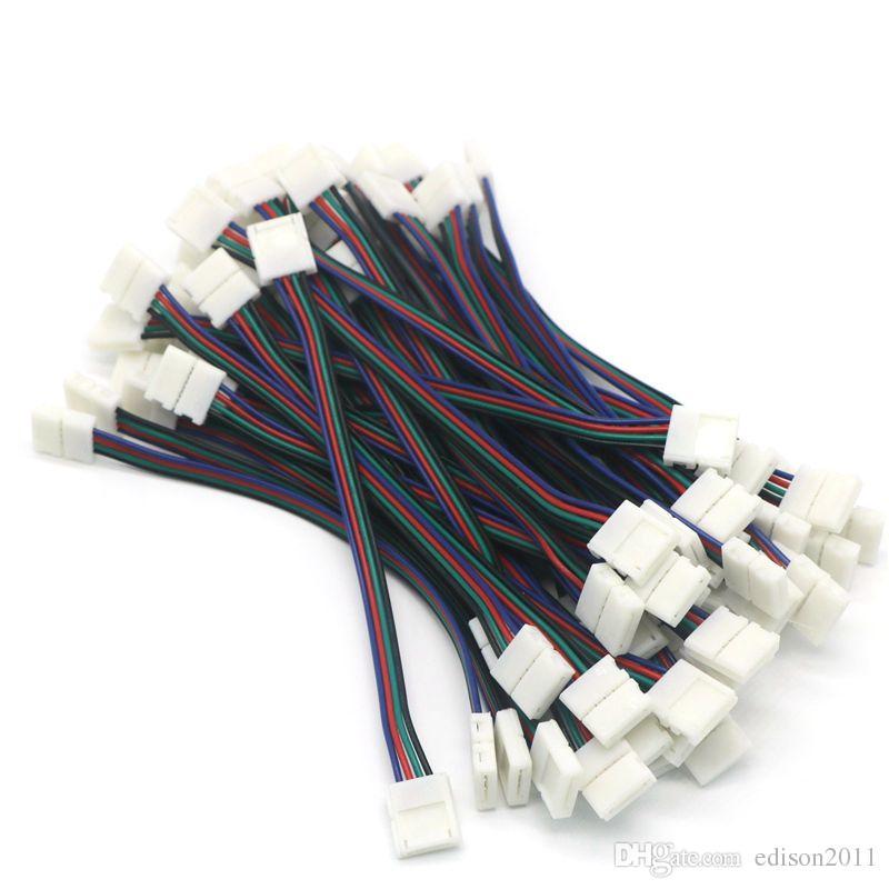 Nuovo 4pin disegno 10MM ha condotto il connettore della striscia di 5050 RGB luce di striscia principale con filo di trasporto