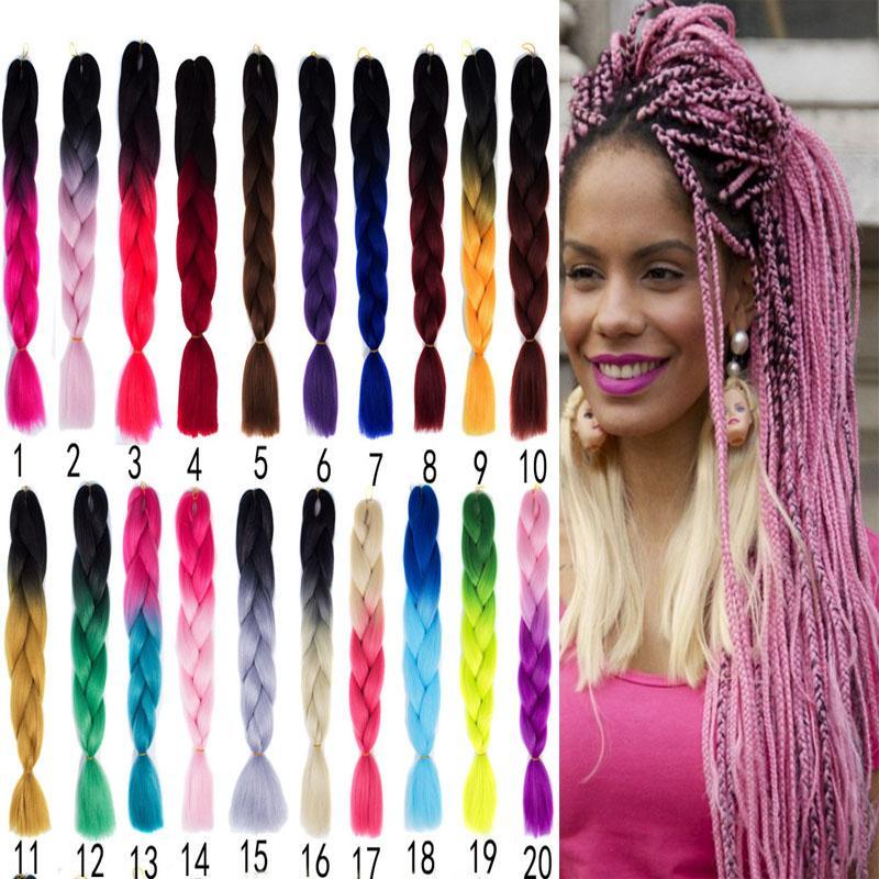 24 Inch 100g Ombre X Pression Brading Hair Kanekalon Braiding Hair
