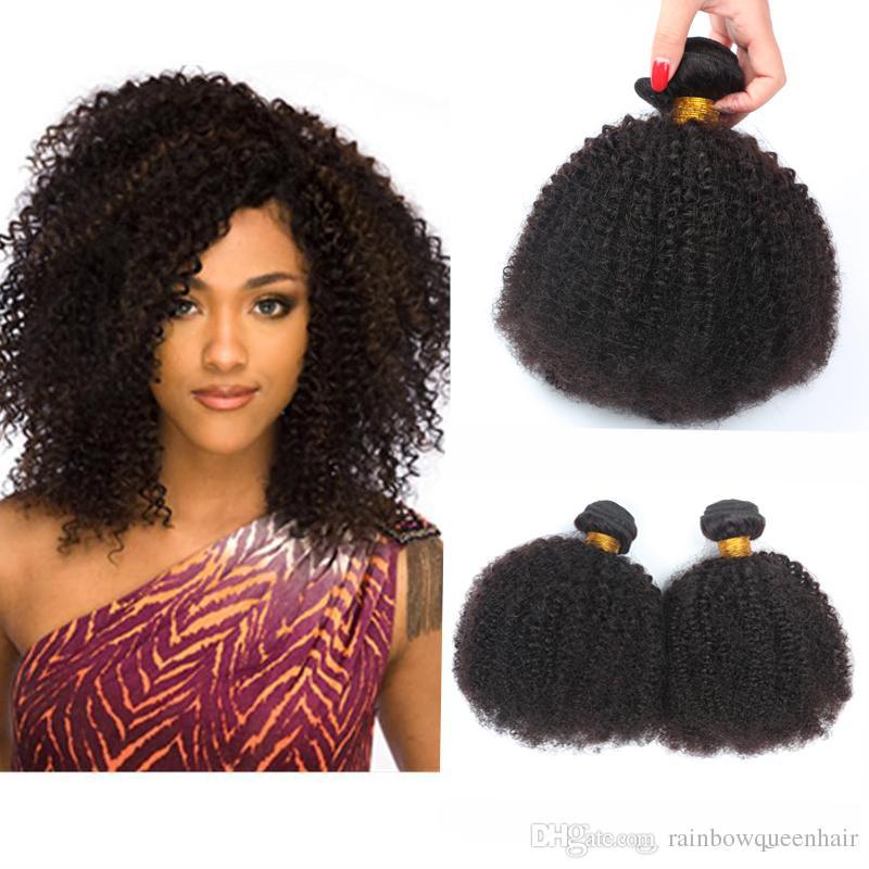 4a 4b 4c 8a Brazilian Afro Kinky Curl Virgin Hair 3 Bundles Afro