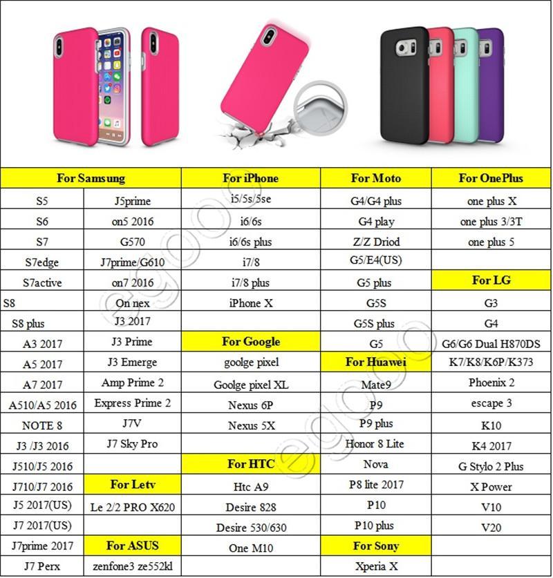 Coque TPU souple en caoutchouc renforcé Armure Hybride pour iPhone X XS Max Xr 8 7 6 6 S Plus