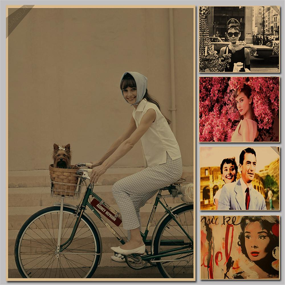 vintage paper retro classic movie poster vintage poster audrey vintage paper retro classic movie poster vintage poster audrey hepburn riding bicycle wall stickers p069 tree wall sticker tree wall stickers from chairdesk