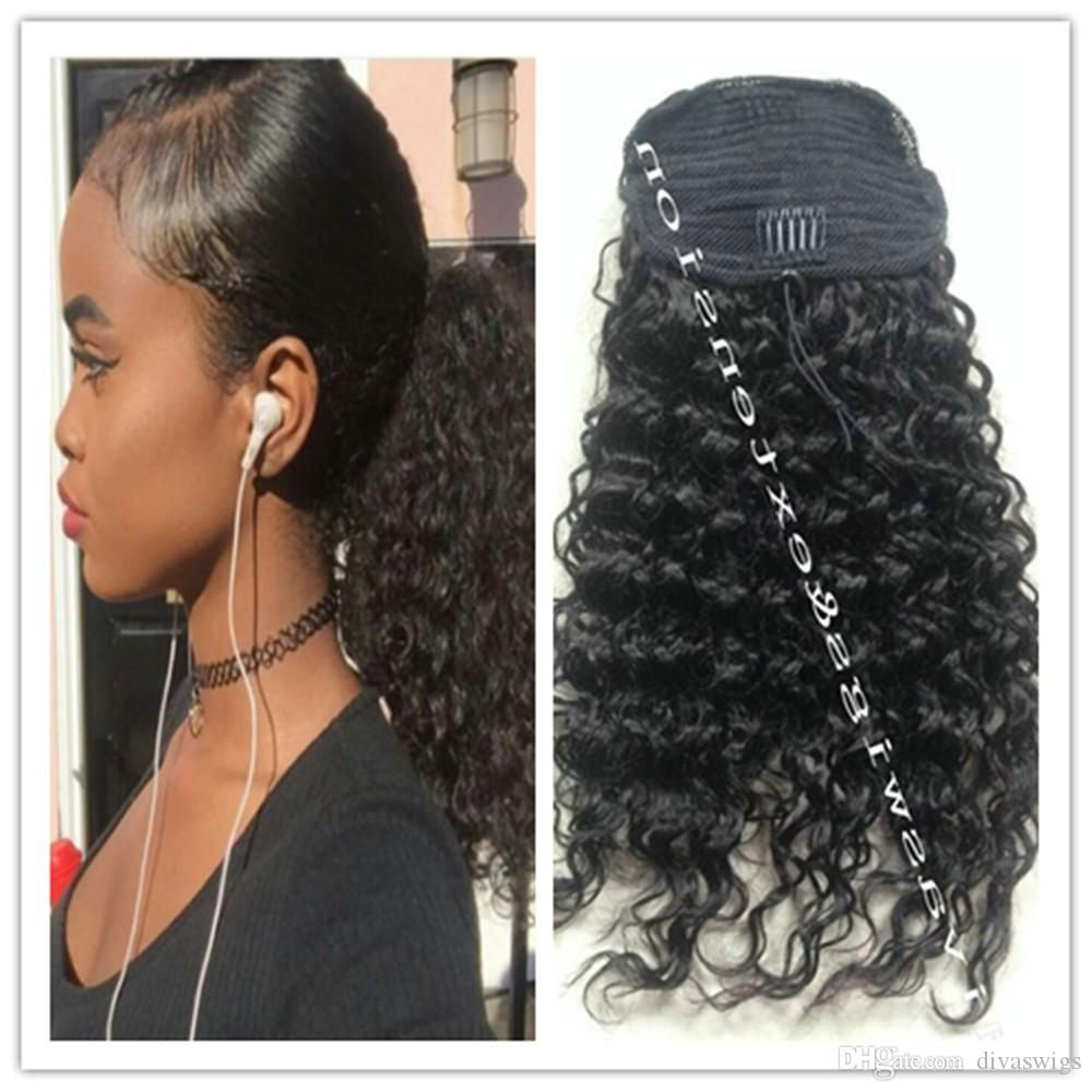 Kinky curly ponytail for black women natural afro curly non remy 10 pmusecretfo Images