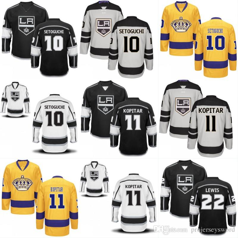 best authentic f876a d9c89 Youth Los Angeles Kings Jersey 3 Brayden McNabb 27 Alec Martinez 37 Jeff  Zatkoff 53 Kevin Gravel Custom Hockey Jerseys Any Name Number