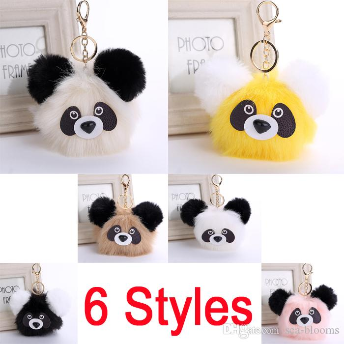 2019 Fashion Plush Panda Doll Key Chain Ring Faux Rabbit Fur Pompom Bear  Bag Charms Keychain Car Bag Keyring 6 Styles Women Gift D32Q From Sea  Blooms a17ce320bc